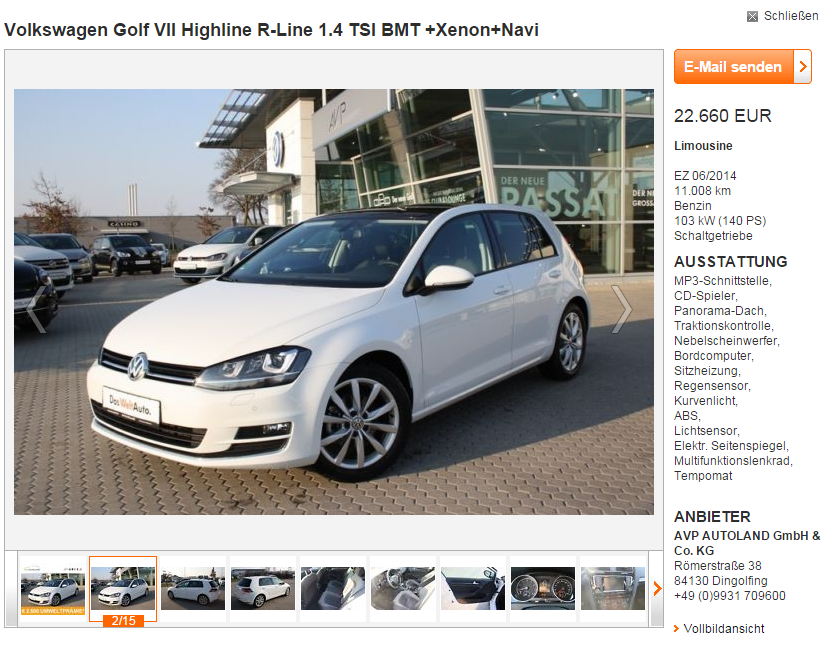 VW Golf Duitsland